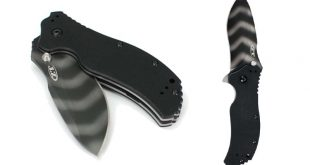 Zero Tolerance ZT0350TS G10 Handle Folding Tiger Striped Blade