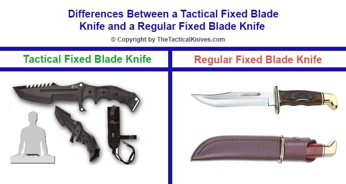 Differences Between Tactical and Regular Fixed Blade Knife