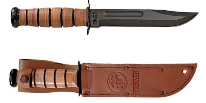 best combat knives 2018 - KA-BAR Full Size US Marine Corps Fighting Knife