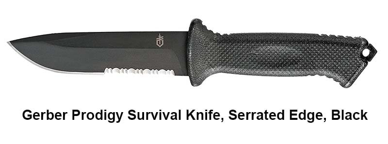 Combination or Partially Serrated Edge Blade Knife
