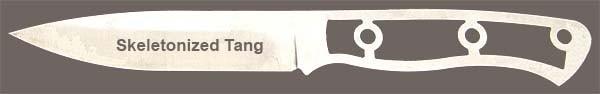 Skeletonized Tang Knife