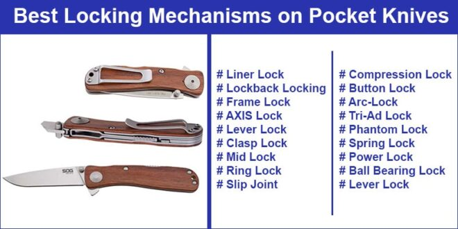 Pocket Knife Locking Mechanisms